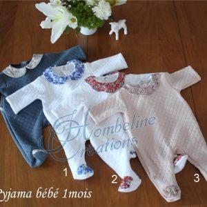 Pyjama hiver 1 mois
