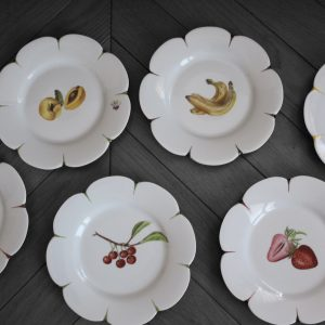 Assiettes à dessert «  fruits »