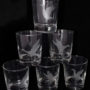 Lot de 6 verres gravés